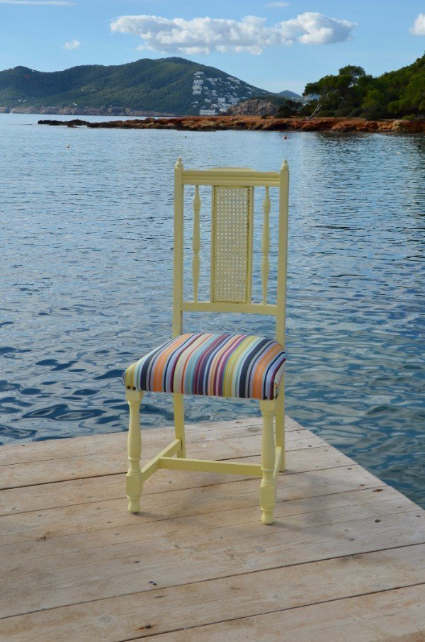Yellow Striped Chair