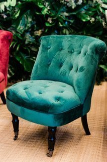 Brilliant Allegra Green Velvet Vintage Chair Lamtechconsult Wood Chair Design Ideas Lamtechconsultcom