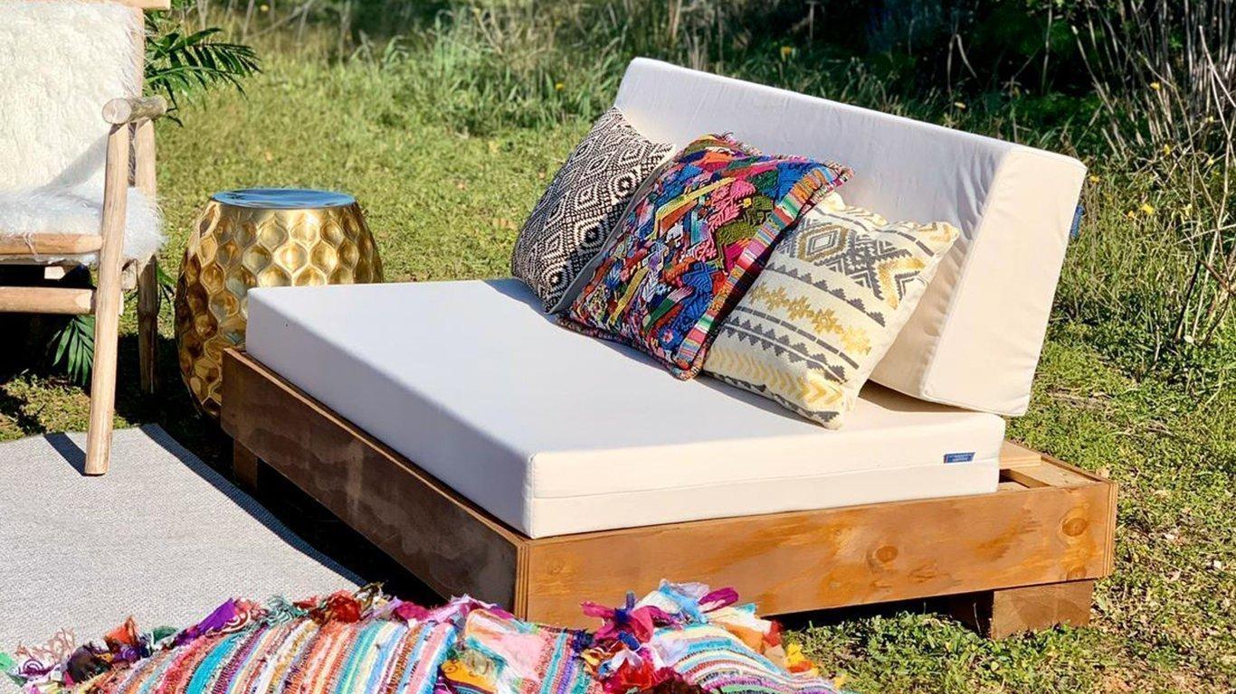 Cream Boho Lounge Sofa The Ibiza Chair Company